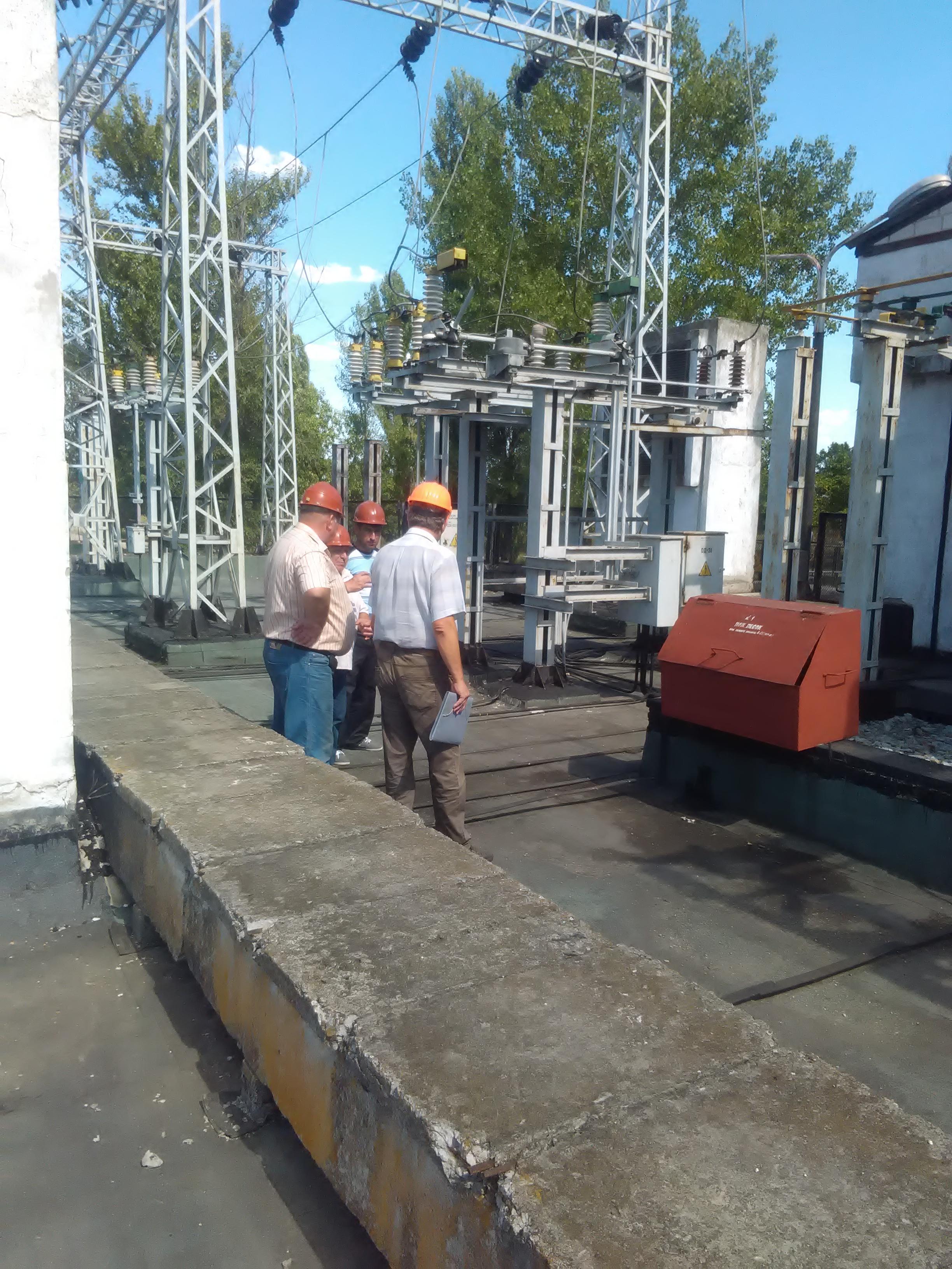 Перевірка практичних знань роботи електричного обладнання на ОРУ 35 кВ.